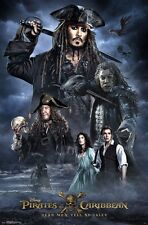 PIRATES OF THE CARIBBEAN 5 - CHARACTER COLLAGE - MOVIE POSTER 22x34 - DEPP 15402