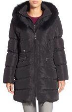 Jessica Wilde Hooded Down Coat with Genuine Fox & Rabbit Fur Size S $675.00