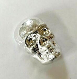 1oz skull 9999 indium 28.35+ g one ounce hand poured bar. PLEASE READ BELOW!