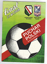 ORIG. prg pologne Cup 1987/88 finale Legia varsovie-Lech poznan!!! rare