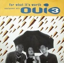 """Oui 3 For What it's Worth 6 Mixes 12"""" Single"""