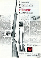 1967 Print Ad of Ruger 10/22 Autoloader Carbine