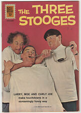 DELL  THE THREE STOOGES #6  1961  LARRY MOE CURLY JOE  PHOTO COVER