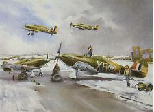 1940 RAF Eagle Squadron Hawker Hurricane American volunteers Greeting card USA