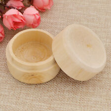 Round Storage Box Wooden Personalized Ring Bracelet Necklace Gift Box New 1pc