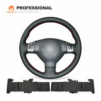 Black Genuine Soft Leather Steering Wheel Cover for Suzuki Swift Sport 2005-2011