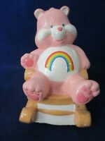 Rainbow Cheer Care Bear Rocking Chair Vintage Music Box Brahms Lullaby Works GUC