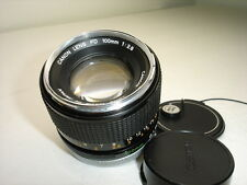 "CANON 100mm f 2.8 FD  lens. Rare ""Chrome Nose"" model  Works good!  Sn13132"