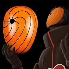 Naruto Akatsuki Obito Madara Ninja Tobi Uchiha Cosplay Costume Plastic Mask @
