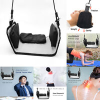 Flock Black Premium Portable Head Hammock For Neck Pain Relief Cervical Traction