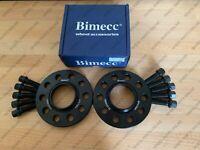 BIMECC ALLOY WHEEL SPACERS + RADIUS BOLTS 10MM 5X112 66.6MM AUDI A4 B8 B9 PAIR