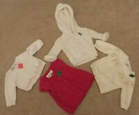 JANIE & JACK / KOALA BABY / KIDS boutique GIRLS CARDIGAN 0-9 months LOT OF 4