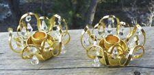 New ListingElegant Candle Holders 🌟 24K Gold Plate & Crystals 🌟 Vintage 1984 Lycenta