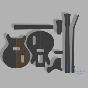 """Gibson Les Paul Junior Double Cut Style Guitar Template MDF 0.50"""""""