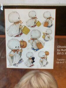 Vintage Dimensions Iron-On Fashion Transfer Halloween Ghosts Fashion Art # 80410