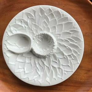 "9-1/2"" White CPL Plate / Dish Artichoke Italy Two Partitions Butter"