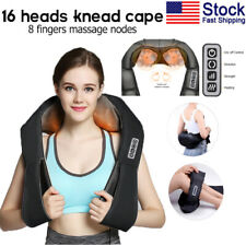 Electric Shiatsu Neck & Back Massager with Heat Deep Kneading Massage Pillow