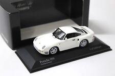 1:43 Minichamps Porsche 959 Coupe grandprix White New en Premium-modelcars
