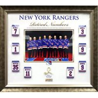 NY Rangers retired Numbers game used net framed collage Mark Messier Steiner COA