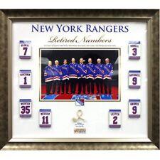 NY Rangers retired Numbers game used net framed collage Mark Messier Steiner COA