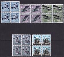 España 1961. Aviacion Española bloque de 4. Ed 1401 / 1405. MNH. **.