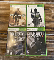 Lot of 4 Call Of Duty Games MW2 MW3 Ghosts and Black Ops 2 XBOX 360