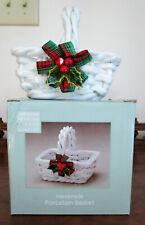 American Bedding & Bath Company Handmade Porcelain Basket, Used