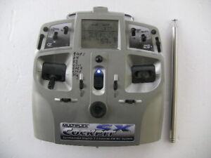Multiplex Sender Cockpit SX ,Mode 2/4 , ;12 Modellspeicher   35mHz, 7 Kanal Synt