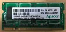 Mémoire SO-DIMM 512 MB PC2-4300 CL4