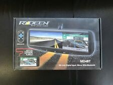 "Rydeen MD4BT 4.3"" HDMI Smart Rearview Mirror W/ Bluetooth Backup Camera Input"