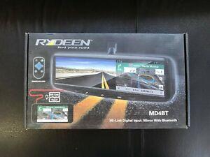 """Rydeen MD4BT 4.3"""" HDMI Smart Rearview Mirror W/ Bluetooth Backup Camera Input"""