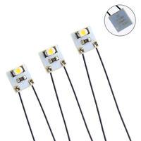 DD00WM 20pcs Pre Wired WARM White SMD 3528 Led Lamp Light Set 12V ~ 18V