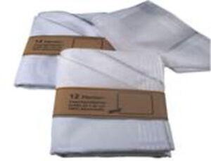 6 Herrentaschentücher 40X40 reinweiß mit Satinstreifen