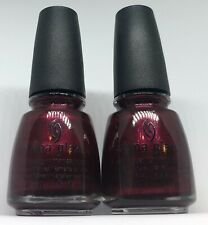 China Glaze Nail Polish HEART OF AFRICA 150 Black Cherry Red Shimmer Lacquer