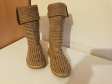 Ugg Australia Classic Cardy Suéter De Punto Beige Botas Altas S/n 5819 Size UK 4.5
