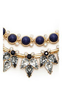 Lee by Lee Angel Capri Collar Necklace NWT $89 Navy