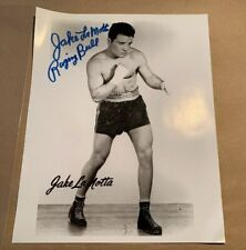Jake LaMotta Raging Bull Signed Autograph 8x10 Black and White Photo