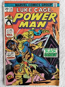 Power Man #24 (Apr 1975, Marvel) Marvel Value Stamp VG+ 4.5