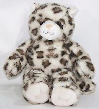 "Build A Bear Workshop SPARKLE SNOW LEOPARD CHEETAH CAT 16"" Plush Stuffed"