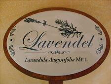 Kräuterschild Pflanzschild Emaille Lavendel 30cm