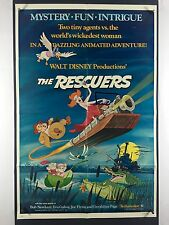 RESCUERS (Fine) Movie Poster 1977 One Sheet Walt Disney Mouse Adventures 2672