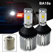 A1 2x BA15s 1156 LED Bulbs COB 30W Super Bright Back Up Reverse Light 6K White