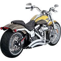 """Vance & Hines Chrome 2-1/2"""" Big Radius Exhaust 2013-15 Harley Softail Breakout"""