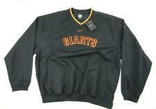 New Nike Pullover Windbreaker Men's XL Black Lightweight SF Giants MLB Baseball
