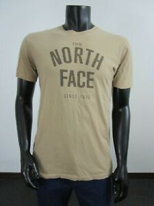 Mens M The North Face Graphic Logo Since 1966 Short Sleeve Tee T-Shirt Brown