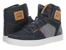 New Men's Levi's Mason Hi 501 Denim Shoe Navy/Reverse Size 12 Brand New!
