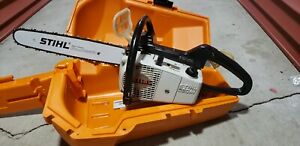 Stihl 020AV Chainsaw with Case Fully Running great Condition