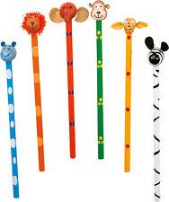 6 x süßer Bleistift Dschungeltiere Mitgebsel Kindergeburtstag Schule