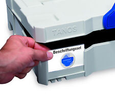 TANOS Beschriftungs Set Systainer T Loc TL 1 2 3 4 5 SYS SORT Combi MIDI MFT AZ