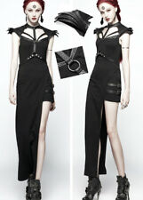 Asymmetrisch Kleid Gothic Lolita Sexy Kriegerisch Party Rüstung Harness PunkRave